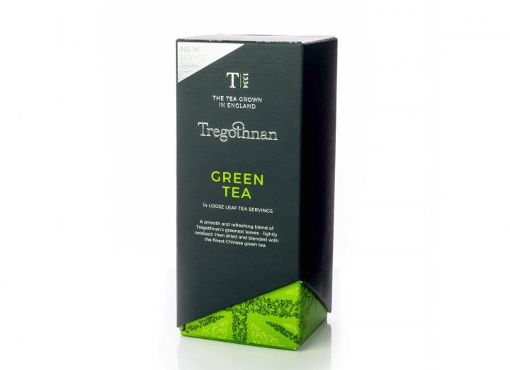 Tregothnan green tea loose leaf caddy