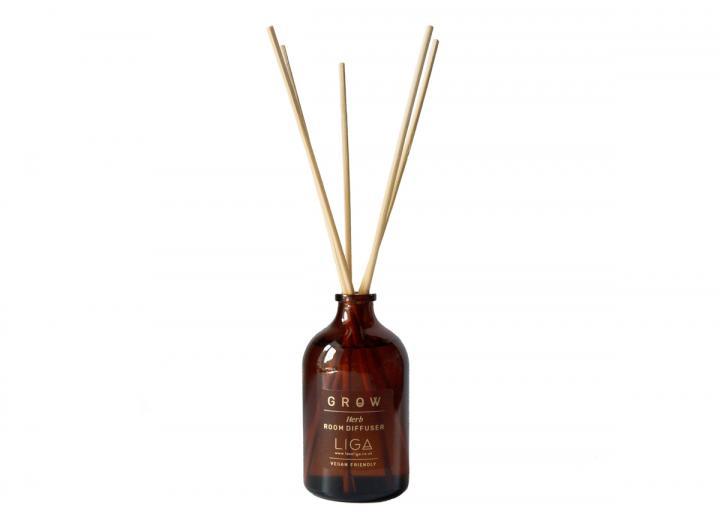 Grow Herb reed diffuser handmade in Cornwall by Liga