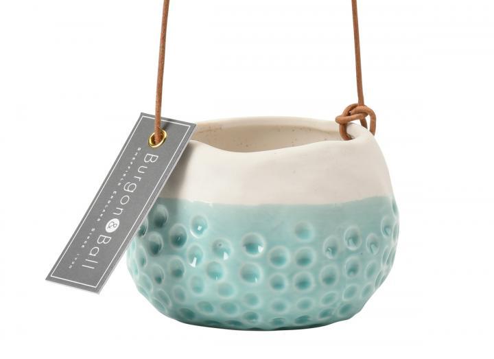 Baby Dotty indoor hanging pot from Burgon & Ball