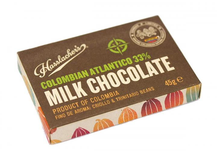 Hasslacher's Colombian atlantico milk chocolate 45g