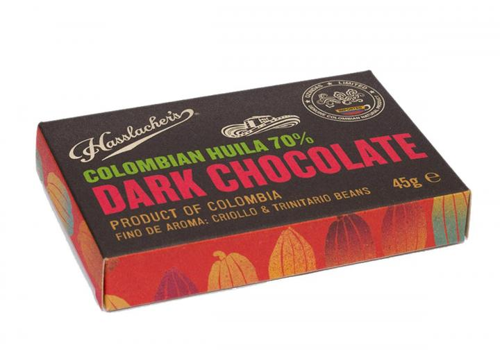 Hasslacher's Colombian Huila dark chocolate 70% 45g