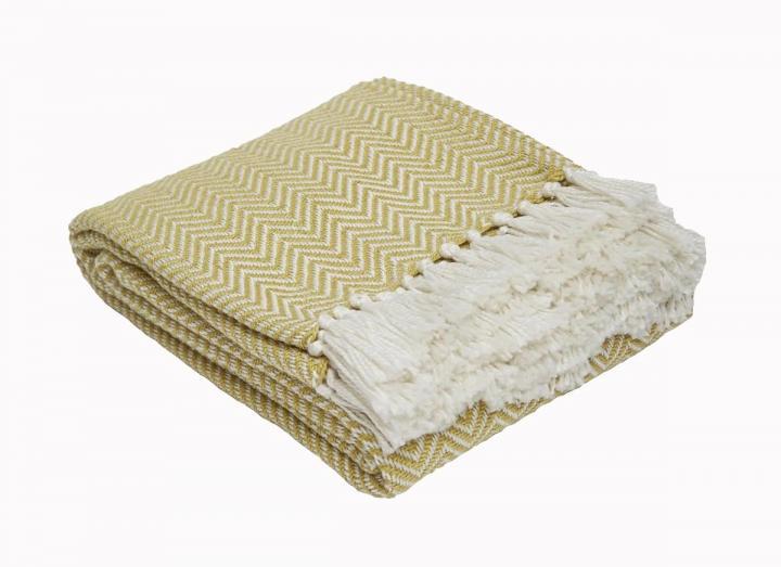 Gooseberry herringbone blanket from Weaver Green