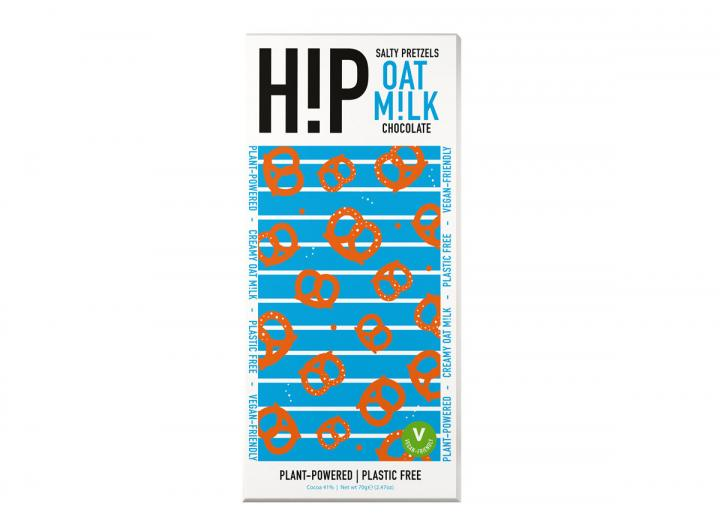 Hip salty pretzels oat milk chocolate bar 70g
