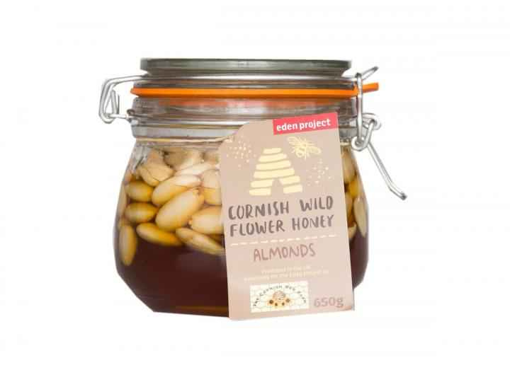 Almonds in Cornish wildflower honey