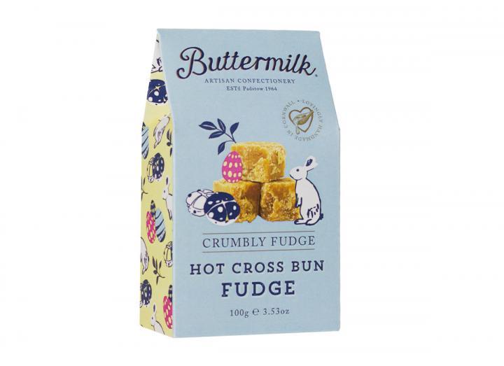 Buttermilk hot cross bun fudge