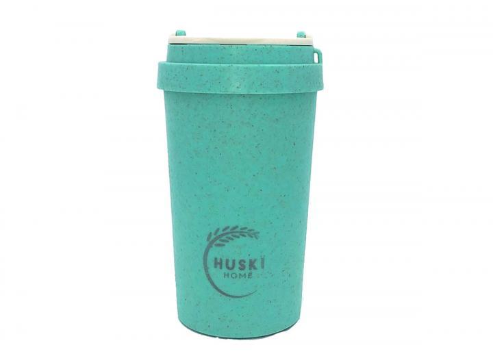 Rice husk 400ml travel cup in lagoon