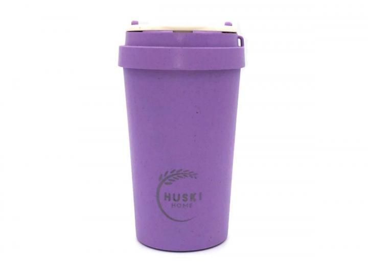 Rice husk 400ml travel cup in violet