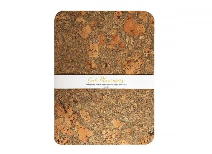 Ice Grey Set of 4 Cork Placemats