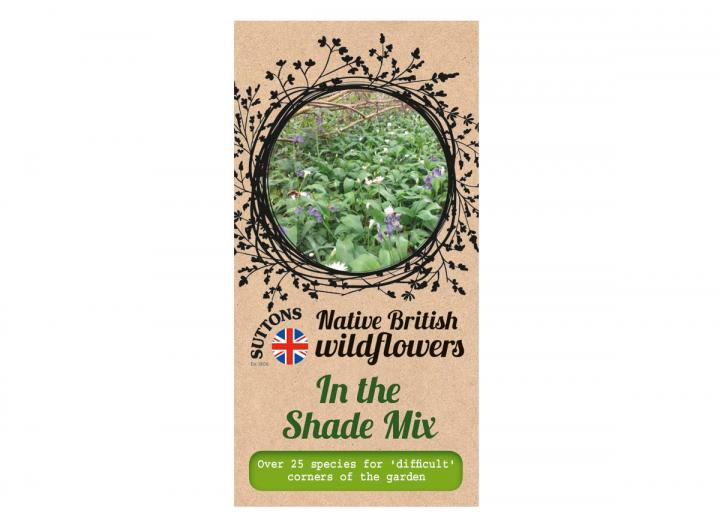 Native British wildflower seeds in the shade mix