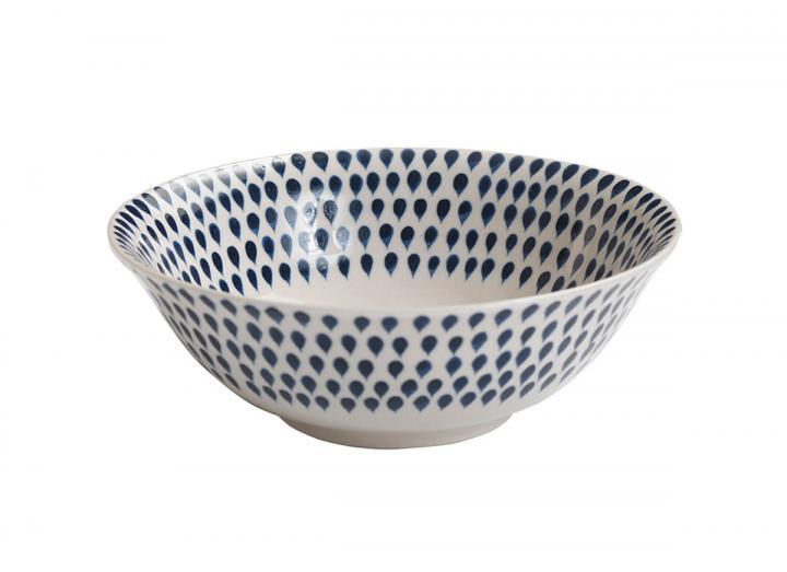 Indigo drop cereal bowl from Nkuku