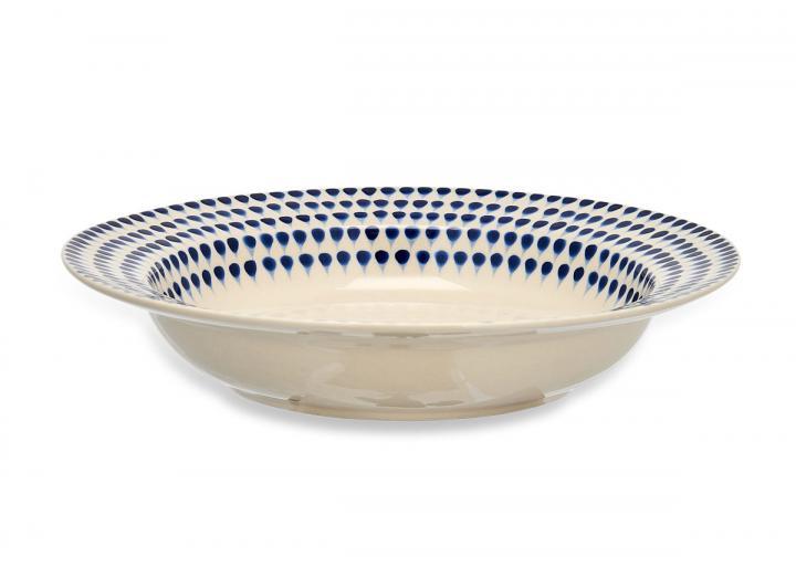 Indigo drop pasta bowl from Nkuku
