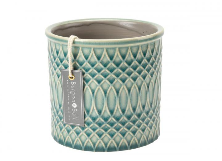 Moroccan print indoor plant pot from Burgon & Ball