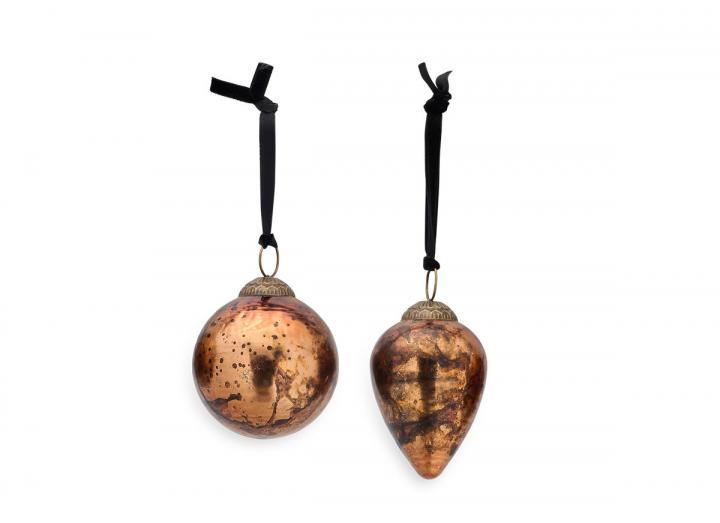 Jalshara bauble antique copper from Nkuku
