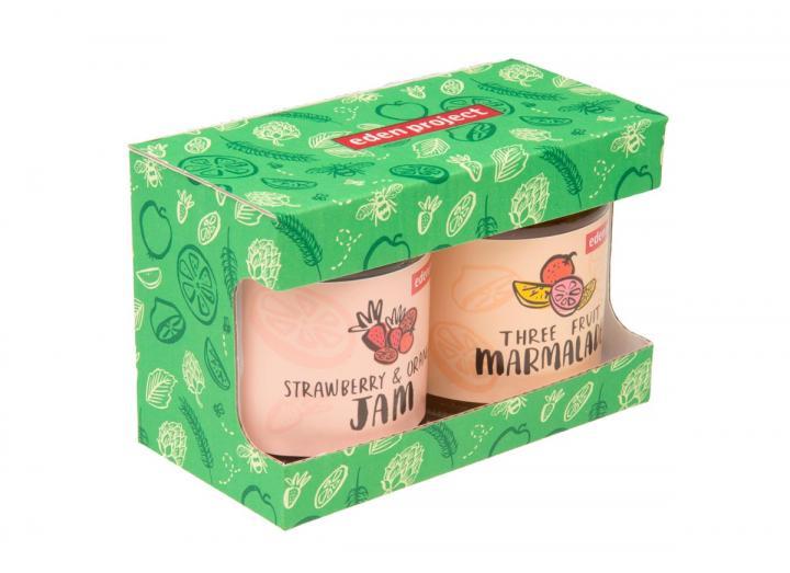 Eden Project strawberry & orange jam and three fruit marmalade gift set