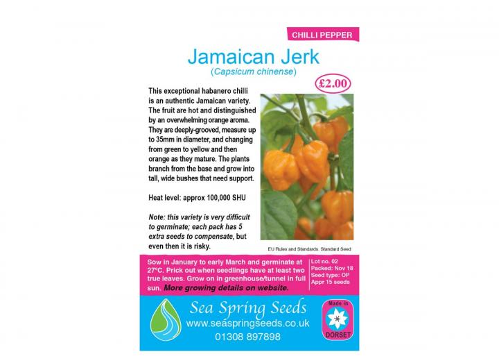 Jamaican Jerk chilli seeds from Sea Spring Seeds