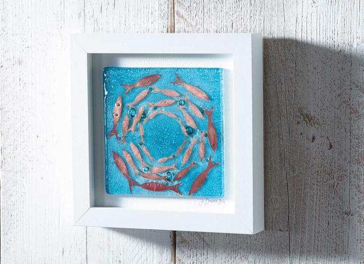 Jo Downs Cornish Pilchards Medium Art Frame