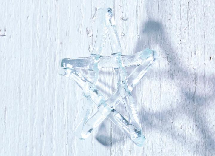 Jo Downs clear Christmas star hanging decoration