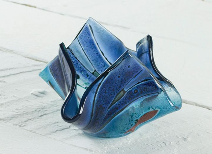 Jo Downs sennen small vase, handmade in Cornwall