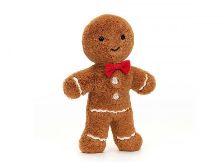 Jolly Gingerbread Fred cuddly toy from Jellycat