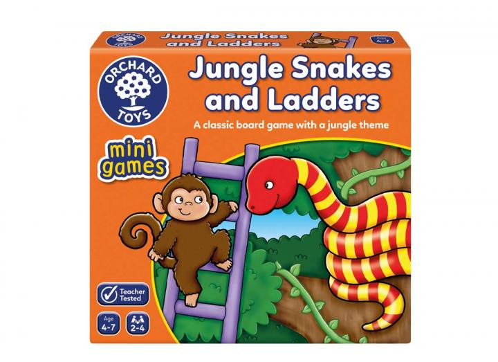 Jungle snakes & ladders mini game from Orchard Toys