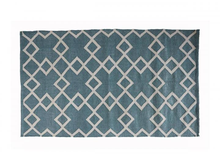 Juno rug in teal from Weaver Green