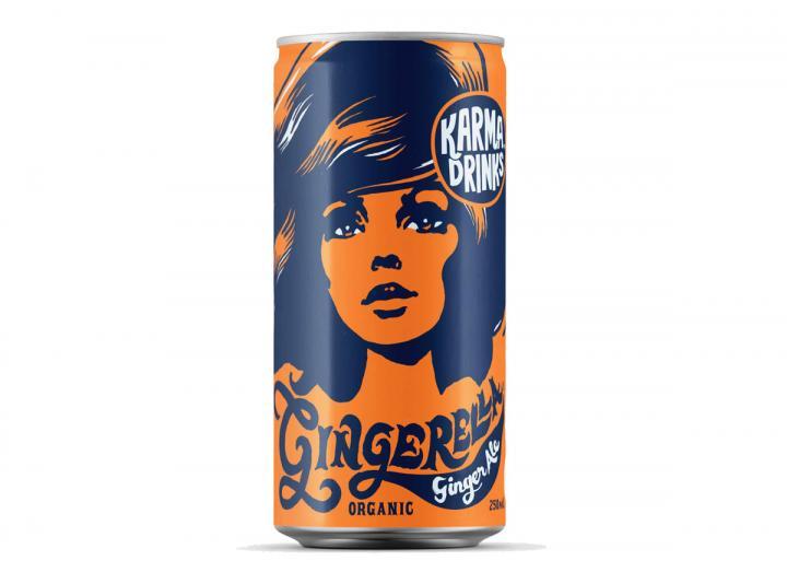 Karma Cola fairtrade gingerella ginger ale 250ml