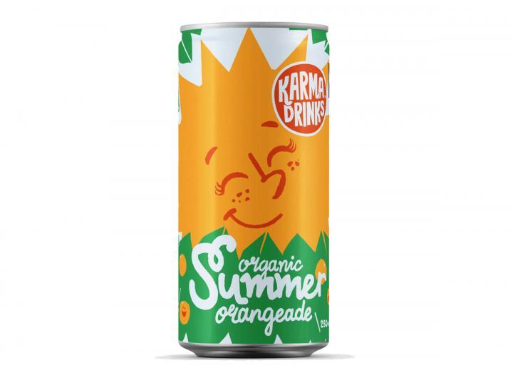 Karma Cola fairtrade orangeade 250ml can