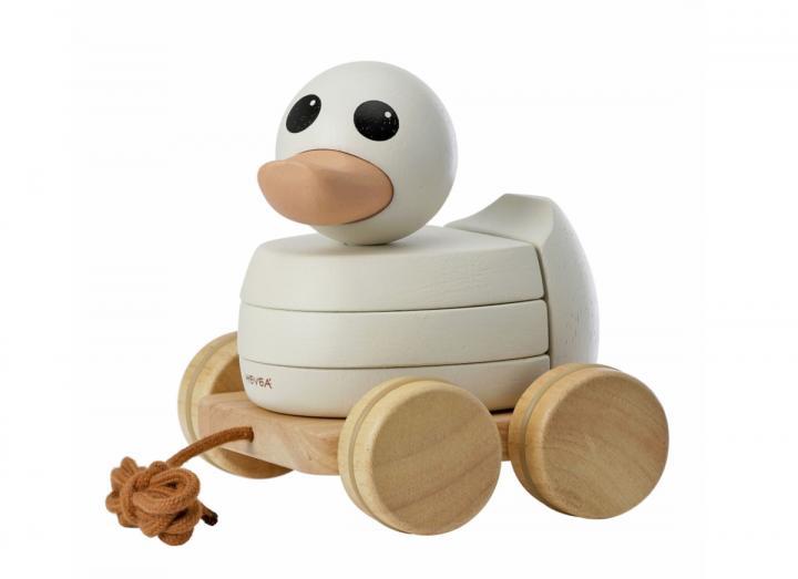 Kawan rubberwood stacker & pull toy from HEVEA