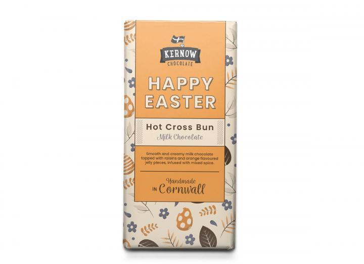 Kernow Chocolate hot cross bun chocolate 100g