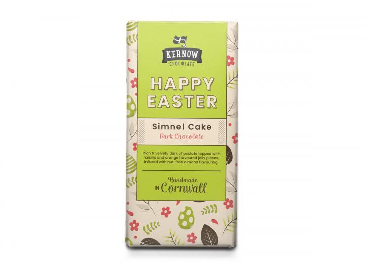 Kernow Chocolate simnel cake chocolate bar 100g