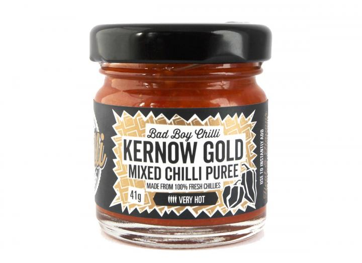 Kernow Gold mixed chilli puree, handmade in Cornwall by Bad Boy Chilli