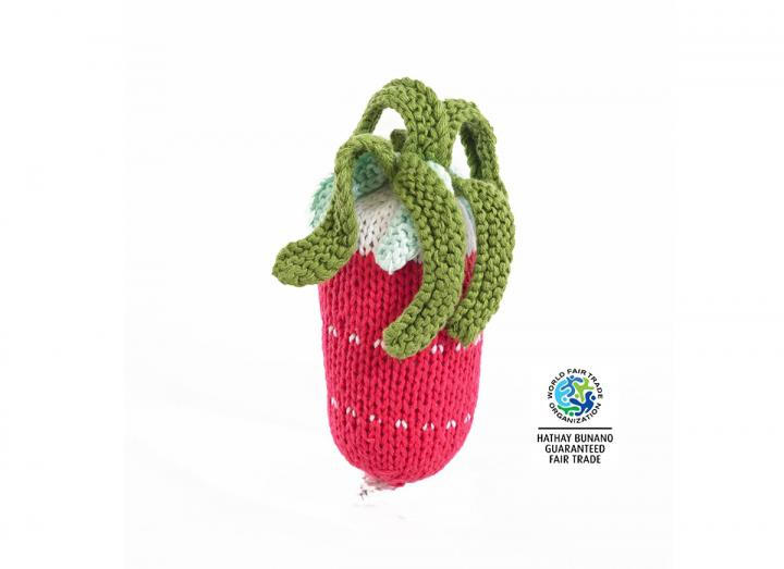 Knitted radish rattle Fair Trade