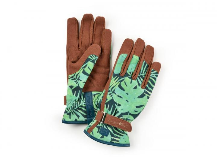 Ladies tropical gardening gloves from Burgon & Ball