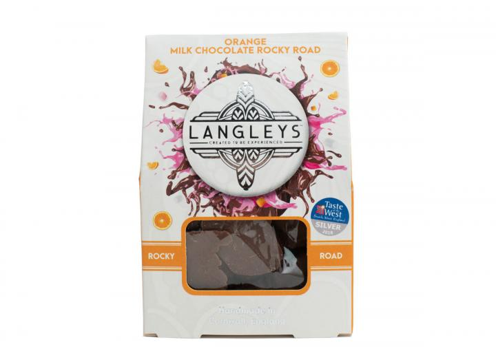 Langley's milk chocolate rocky road with orange 100g