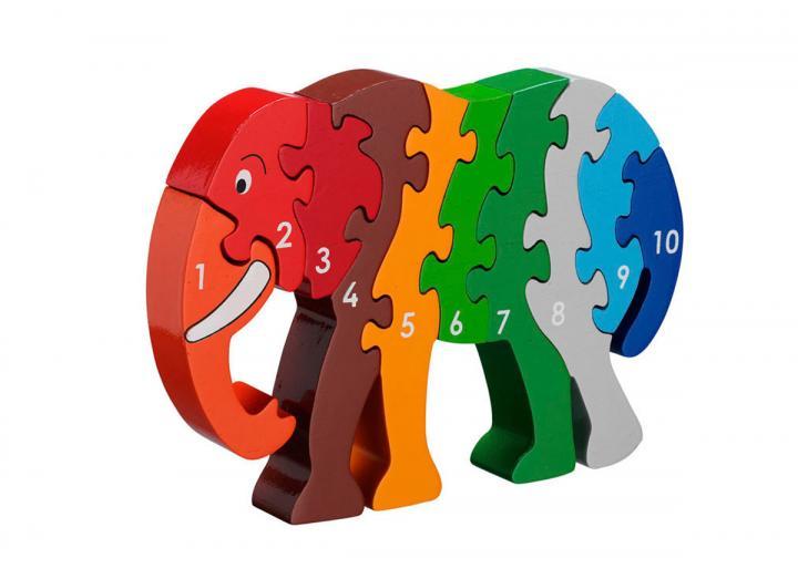 Lanka Kade Elephant 1-10 Jigsaw Puzzle