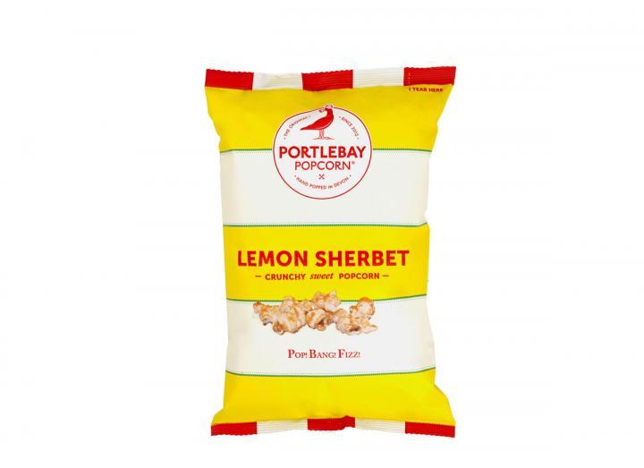 Lemon sherbert popcorn from Portlebay Popcorn