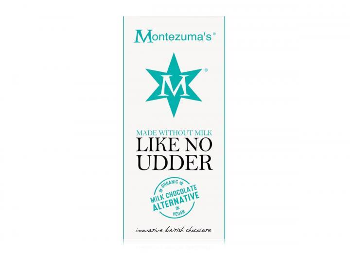Montezuma's like no udder milk chocolate alternative bar