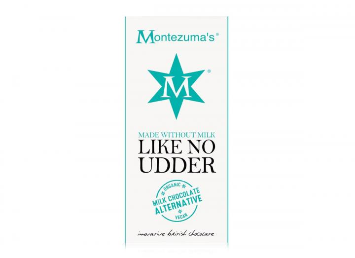 Montezuma's like no udder milk chocolate alternative bar