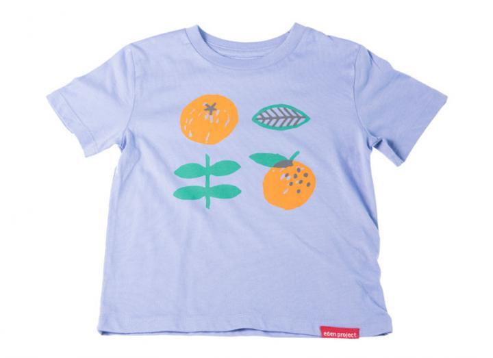 Kids Lilac Orange Print T-Shirt