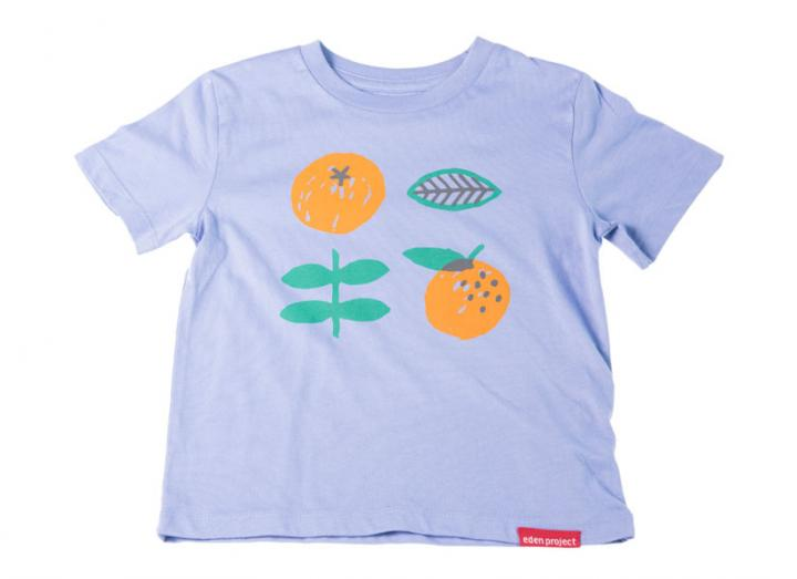 Kids Lilac Orange Print T-Shirt