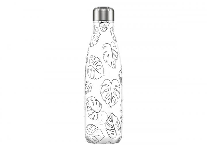 Chilly's Bottle 500ml line art leaves edition