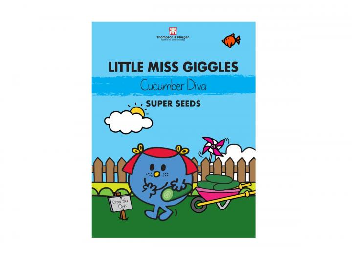 Little Miss seed range from Thompson & Morgan - Little Miss Giggle cucumber diva super seeds