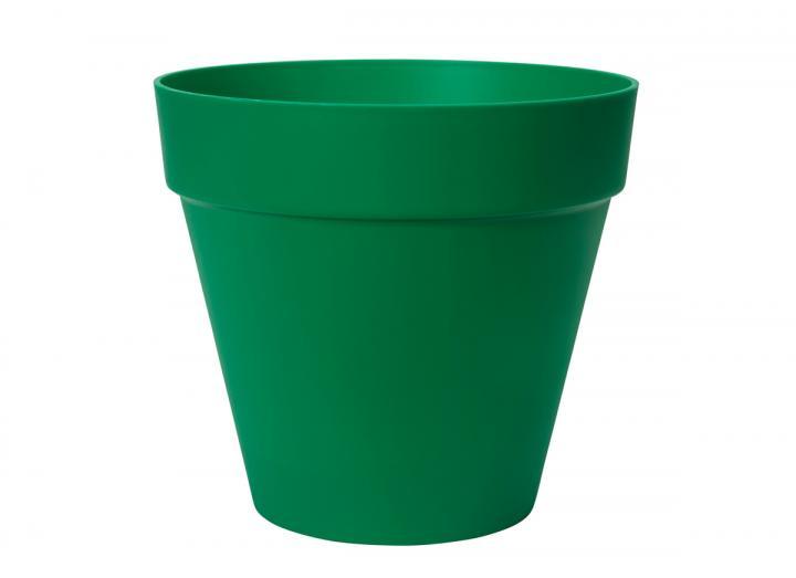 Loft urban round plant pot in lush green from elho