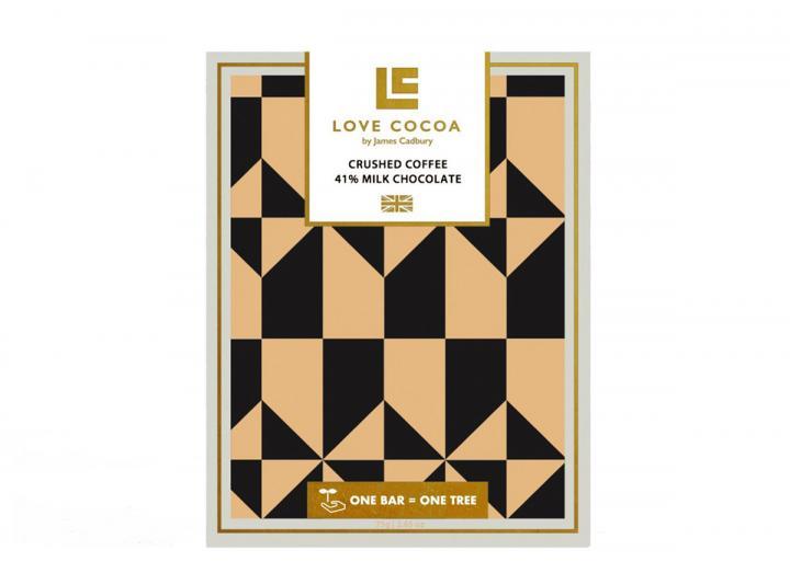 Love Cocoa crushed coffee milk chocolate 75g