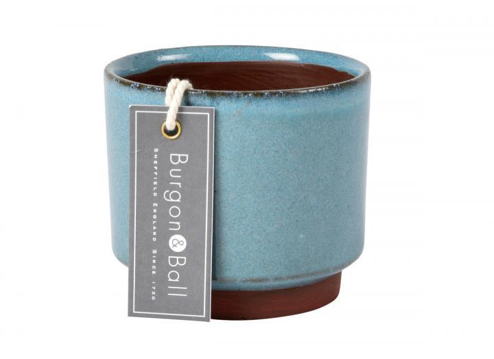 Malibu succulent plant pot in blue from Burgon & Ball