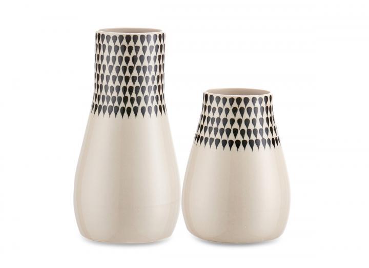 Matamba ceramic vase droplets from Nkuku
