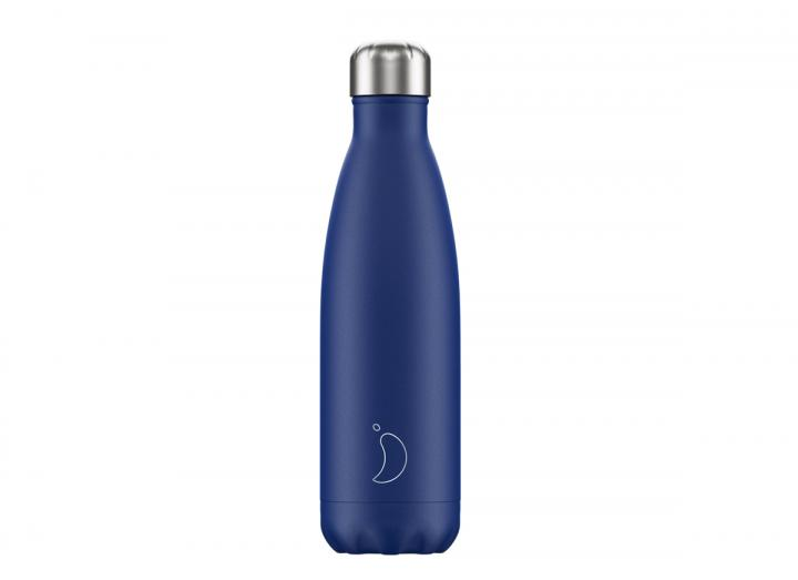 Matte blue chilly's bottle