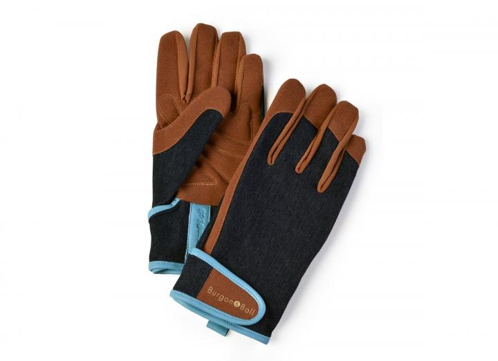Men's denim gardening gloves from Burgon & Ball