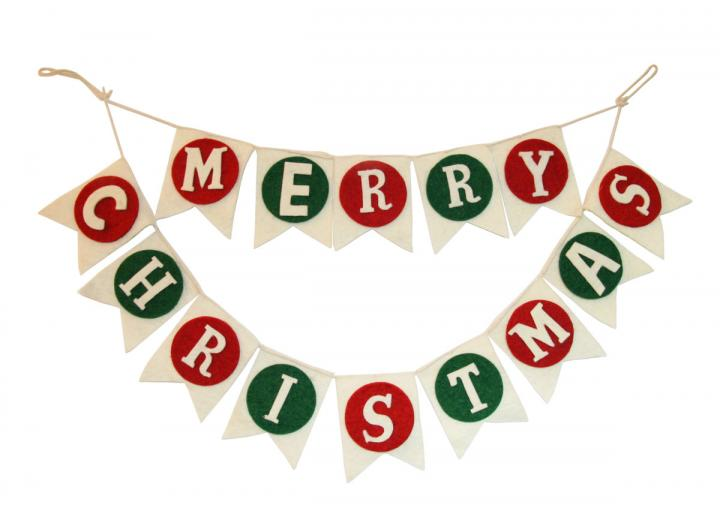 Merry Christmas banner from Fiona Walker England