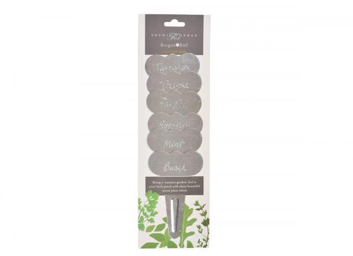 Metal herb labels by Sophie Conran for Burgon & Ball